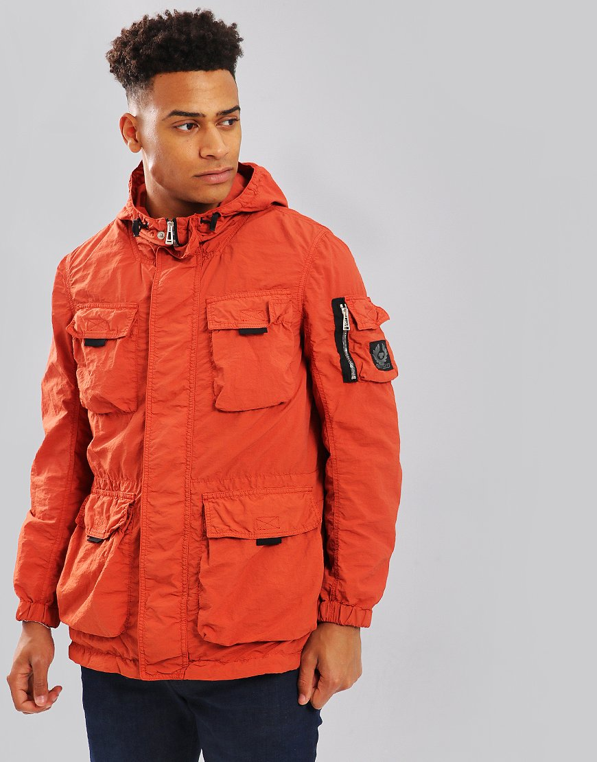 Belstaff Pallington Hooded Jacket Bright Tamarind