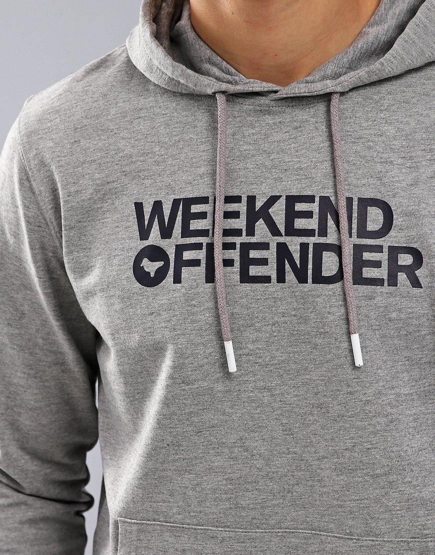 Weekend Offender Badger Hoodie Grey Marl