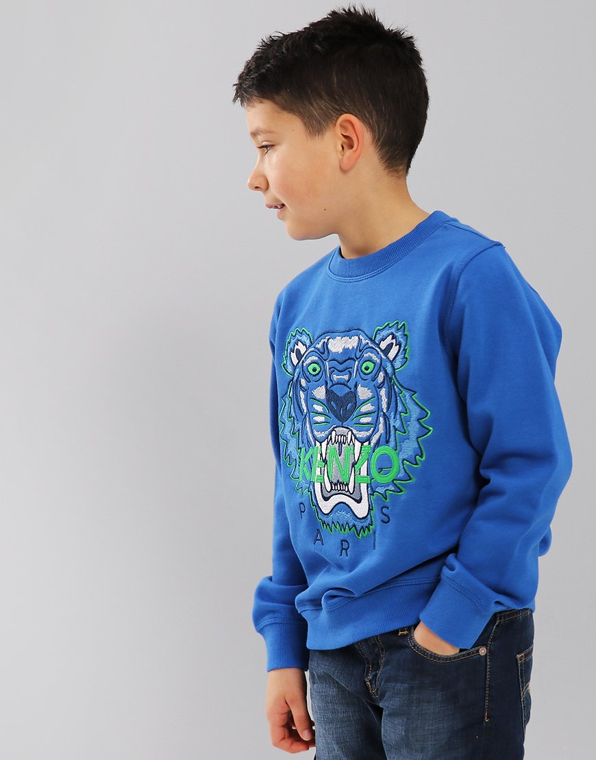 Kenzo Kids Tiger Logo JB3 Sweatshirt Royal Blue