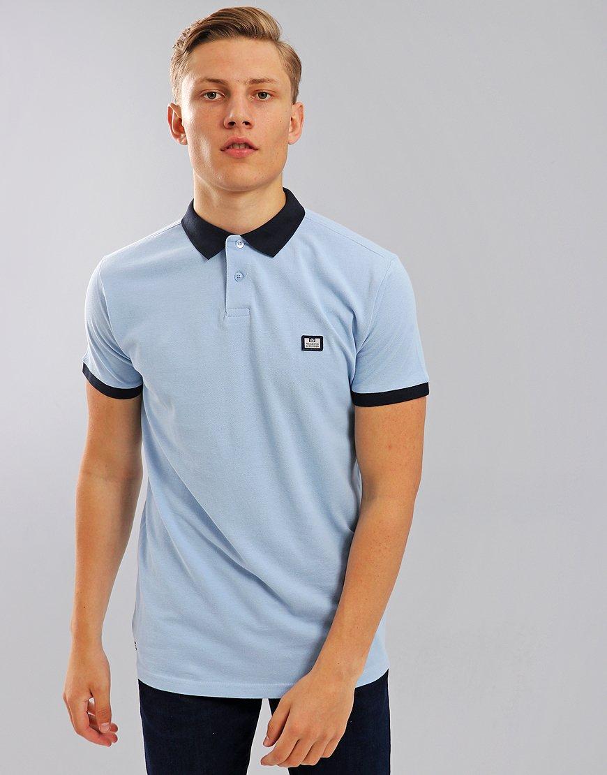 Weekend Offender Gibson Polo Shirt Sky