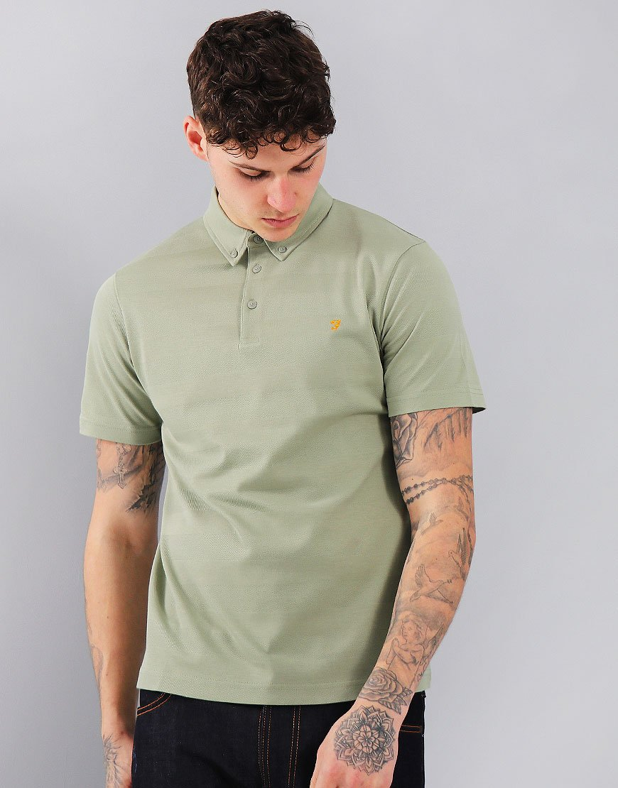 Farah Stapleton Short Sleeved Polo Shirt Balsam