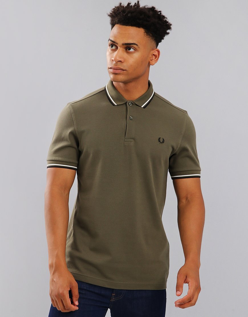 Fred Perry Twin Tipped Polo Shirt  Iris Leaf