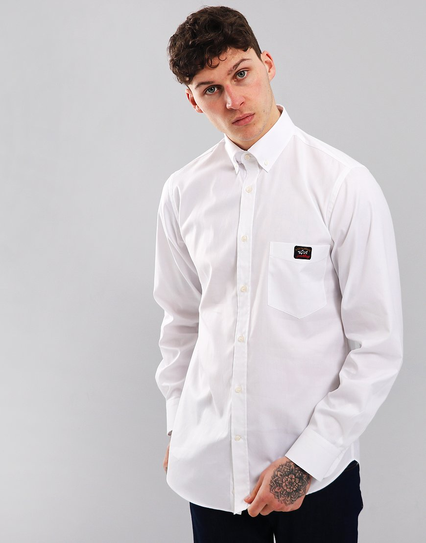 Paul & Shark Regular Fit Woven Shirt White