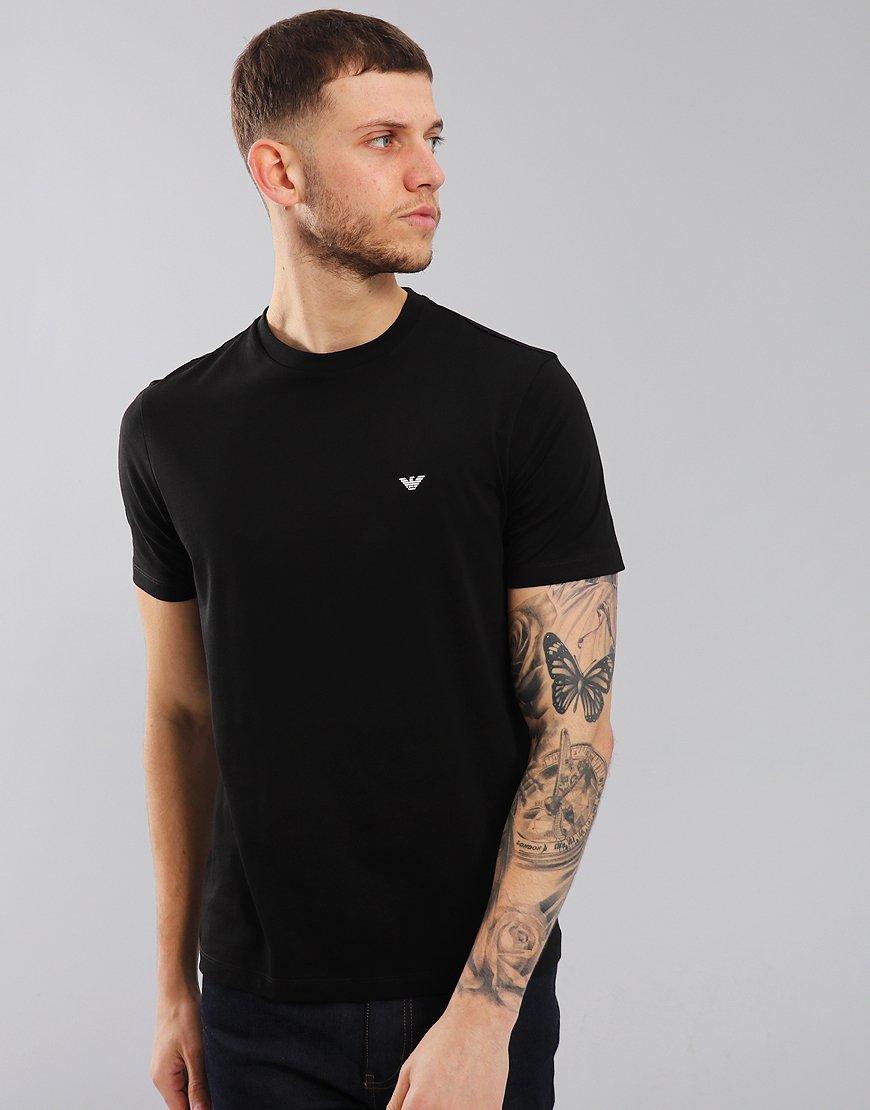 Emporio Armani Plain Pima Cotton T-Shirt Black