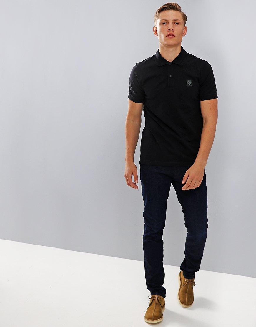 e88fc884cf01 Belstaff Stannett Polo Shirt Black - Terraces Menswear