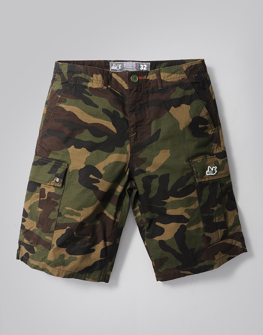 Peaceful Hooligan Container Shorts Woodland Camo