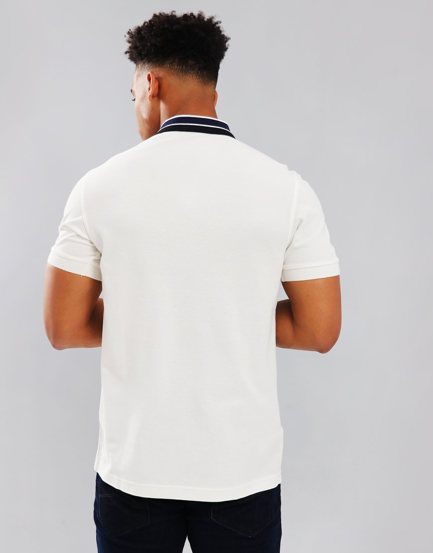 Fred Perry Bold Tipped Polo Shirt Snow White