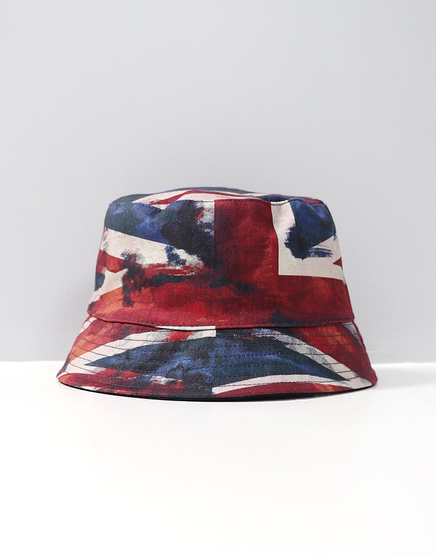Pretty Green Reversible Bucket Hat Union Jack/Navy