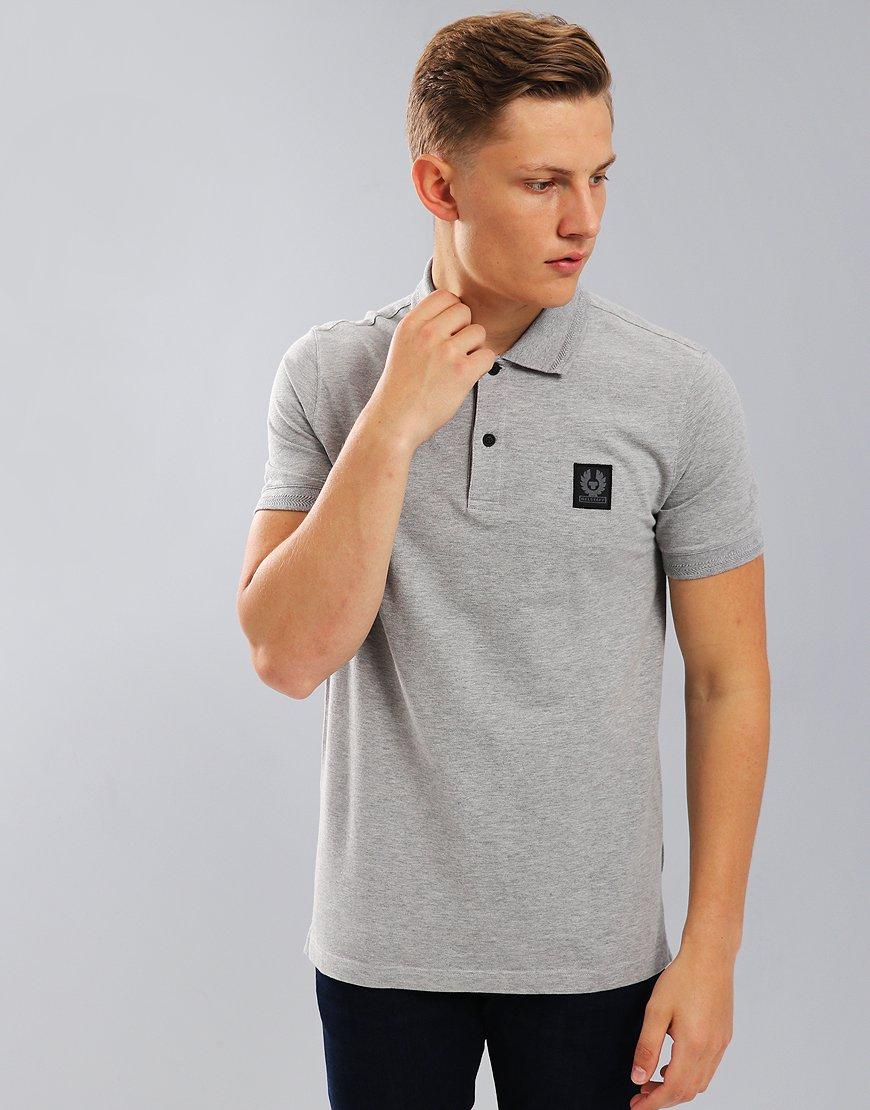 Belstaff Stannett Polo Shirt Grey