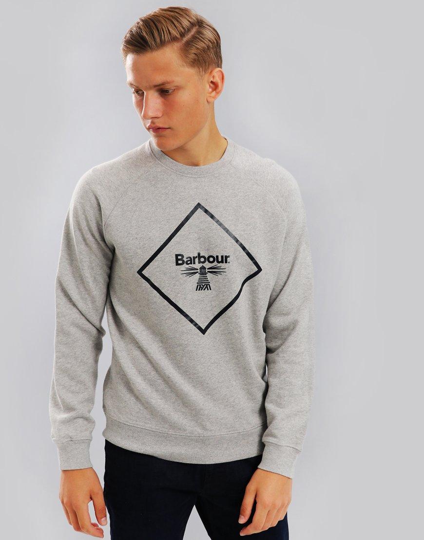 Barbour Beacon Large Logo Sweat Grey Marl