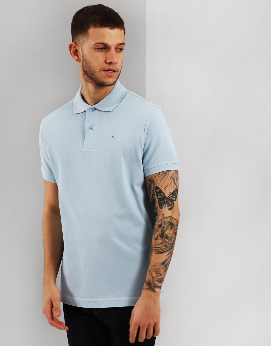 Barbour Sports Polo Shirt Sky