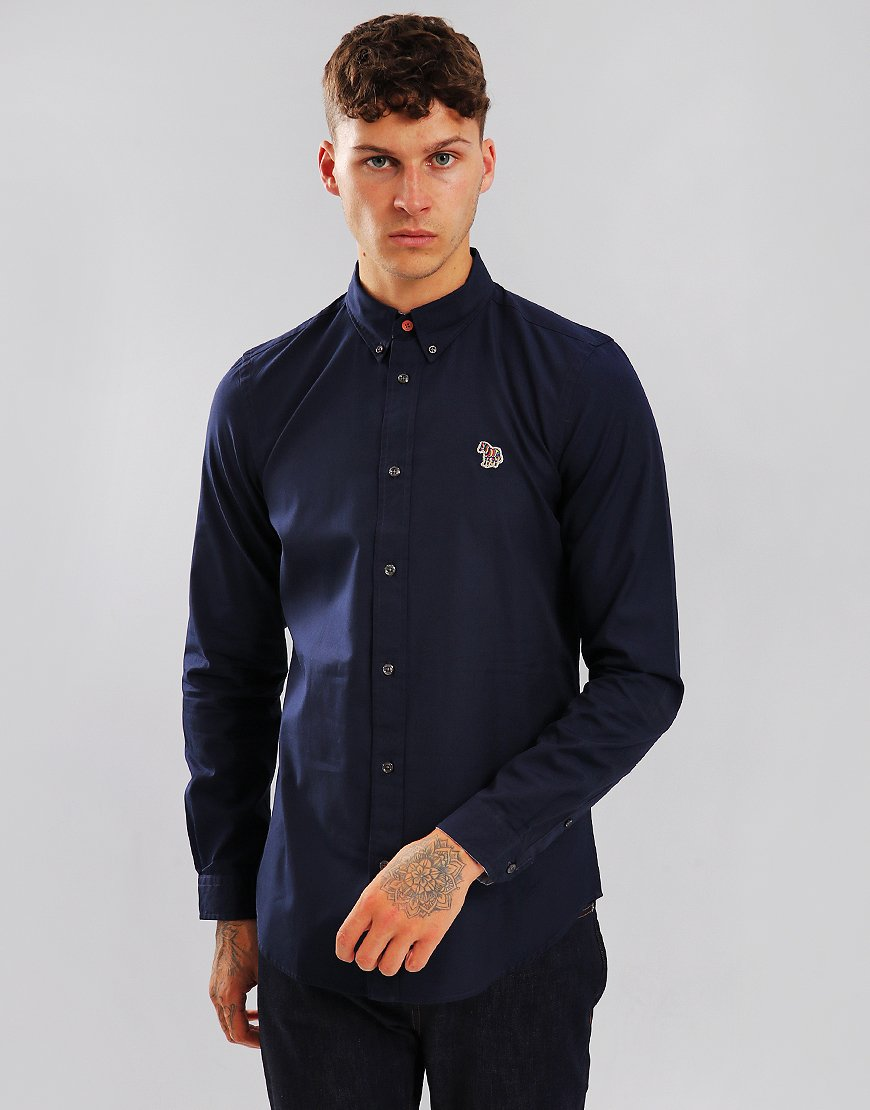 Paul Smith Tailored-Fit Shirt Inky