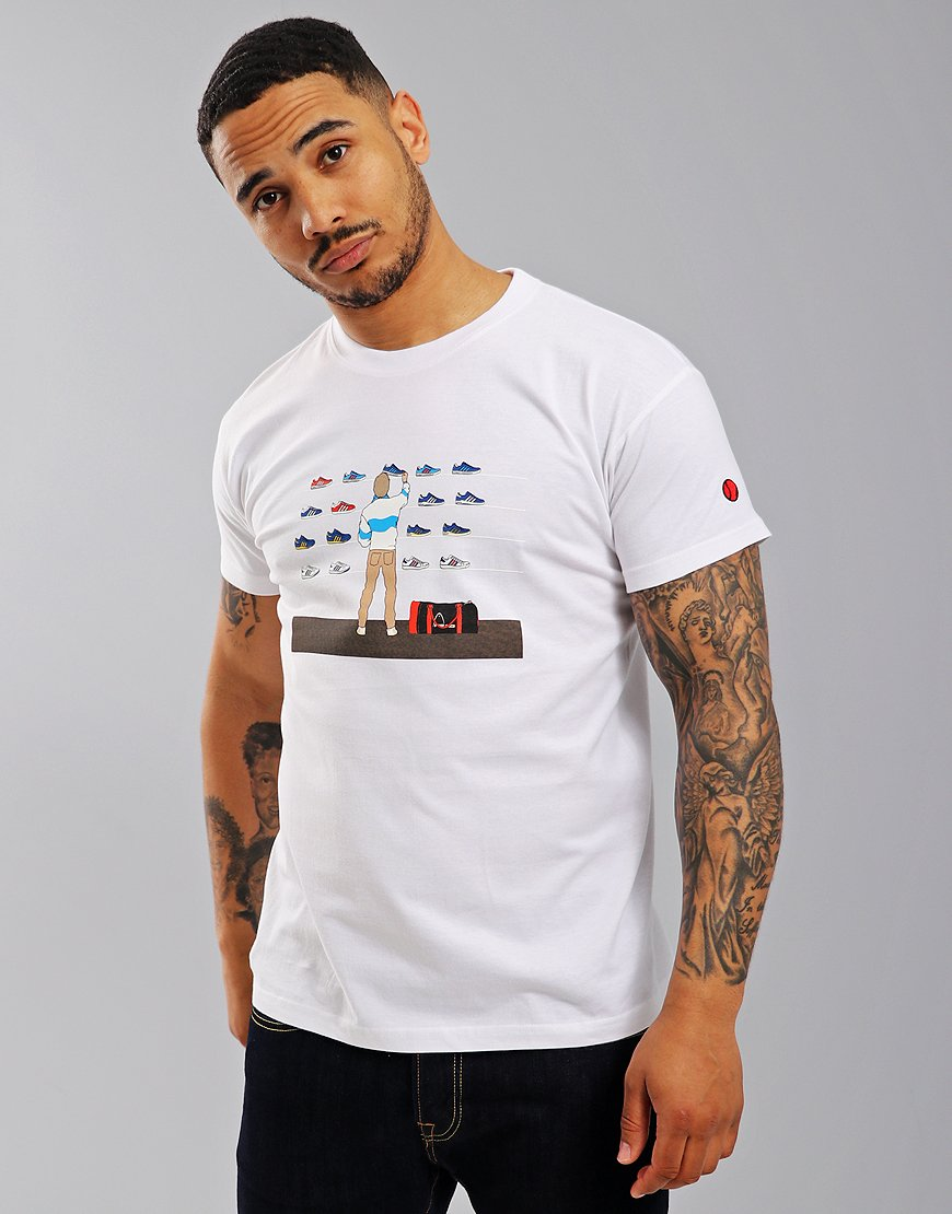 Eighties Casuals Trainer Shop T-Shirt  White