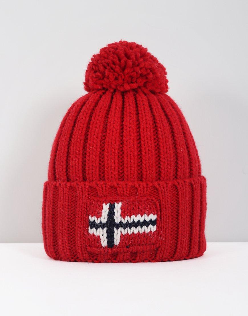 Napapijri Semiury Bobble Hat Pop Red