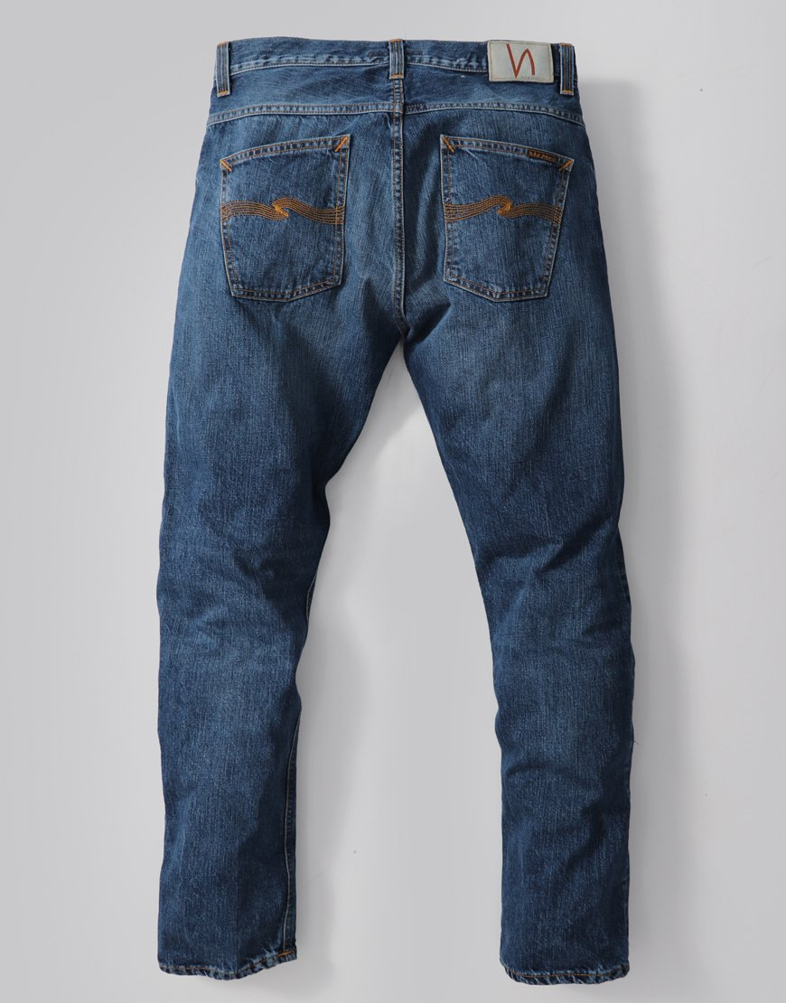 Nudie Fearless Freddie Loose Fit Jeans Blue Visions