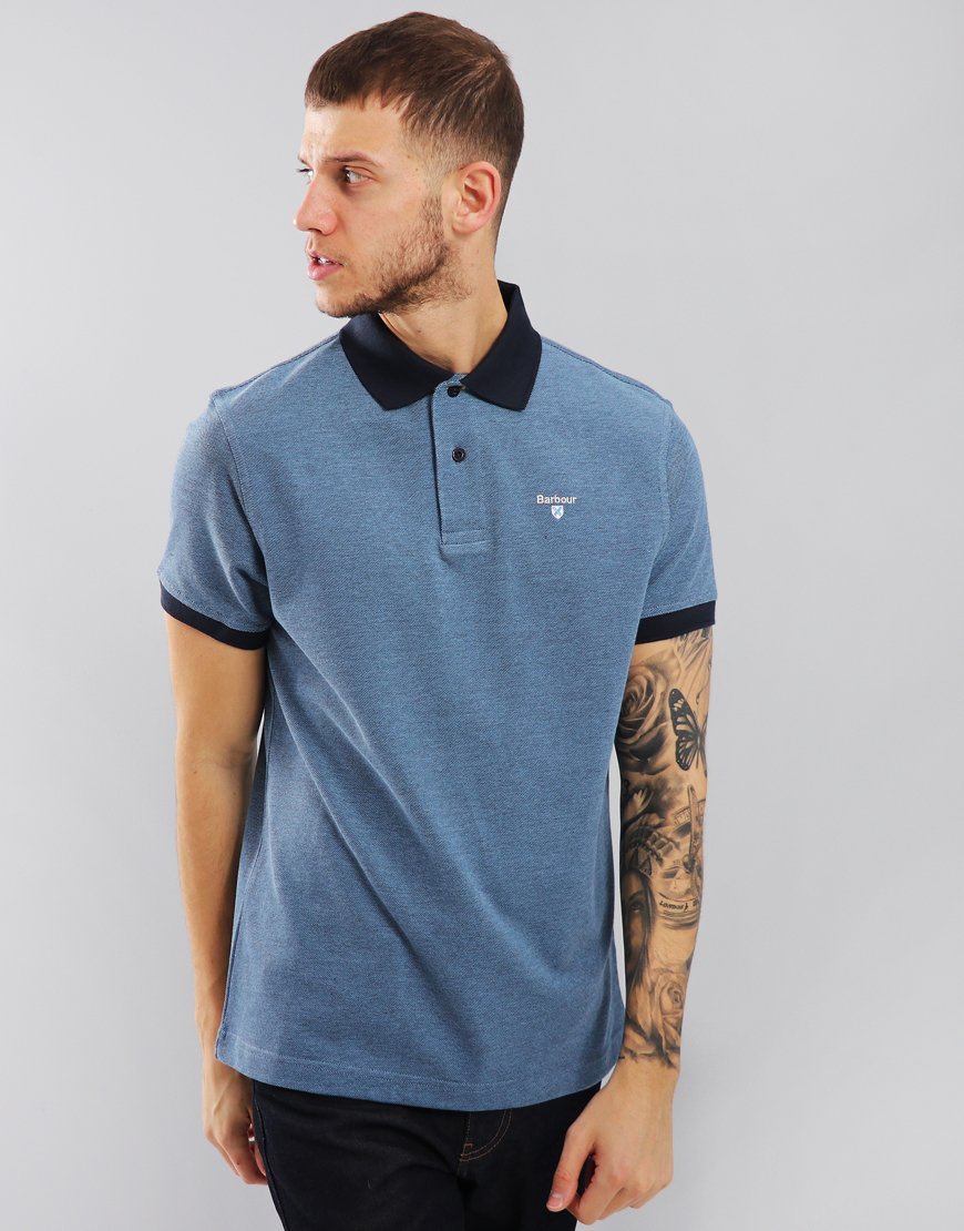 Barbour Sports Mix Polo Shirt Navy