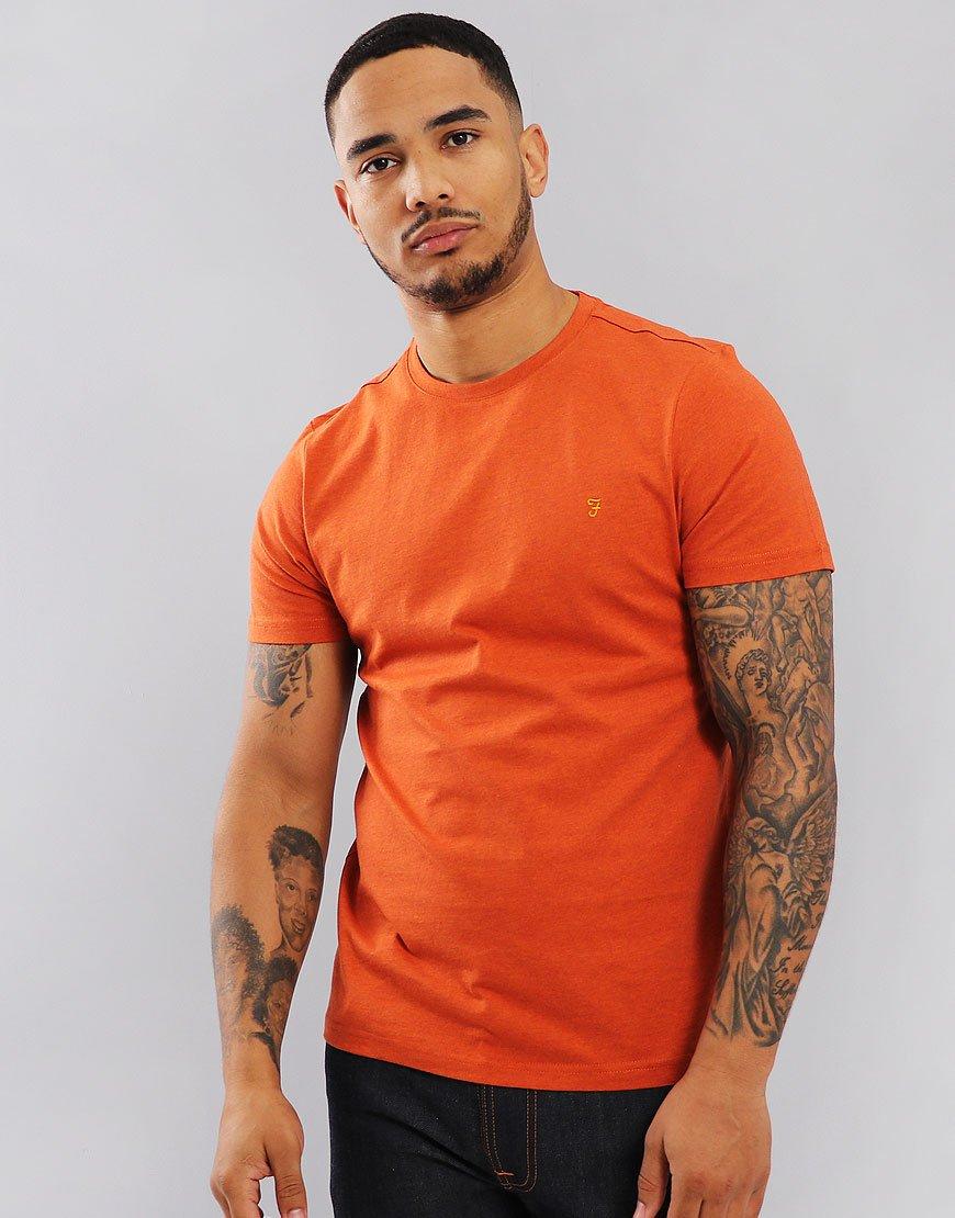 Farah Denny Slim Fit T-Shirt Orange Marl