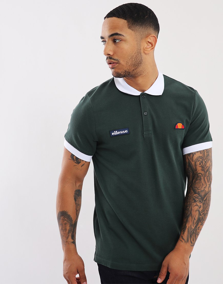 Ellesse Lessepsia Polo Shirt Darkest Green