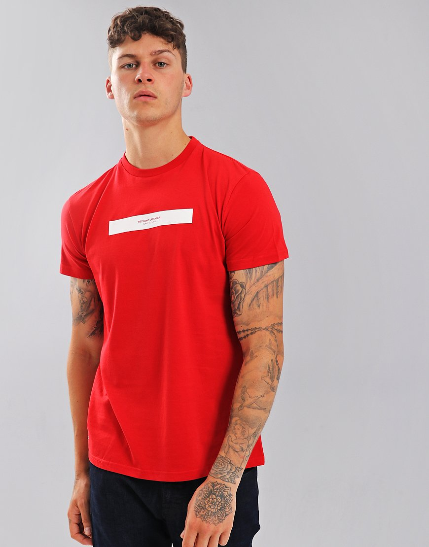 Weekend Offender Box Capsule T-Shirt Red