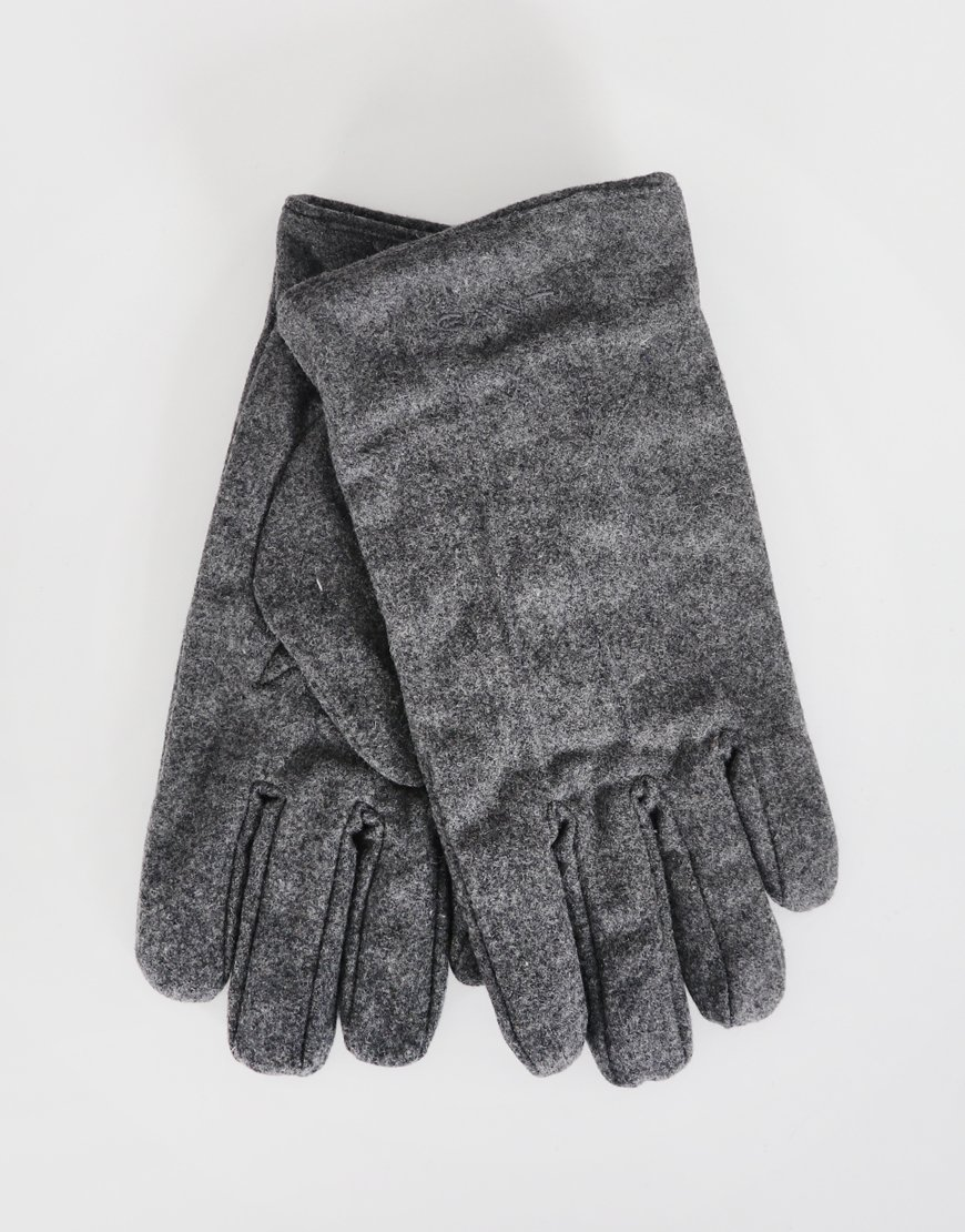 Gant Melton Gloves Charcoal