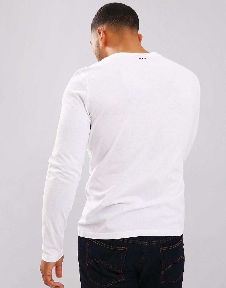 Napapijri Solin Long Sleeve T-Shirt Bright White