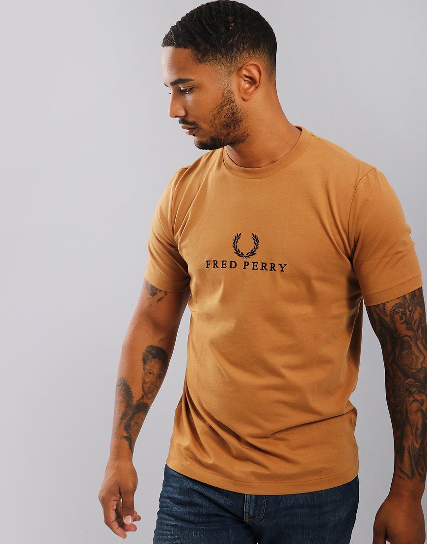 Fred Perry Embroidered T-Shirt Caramel