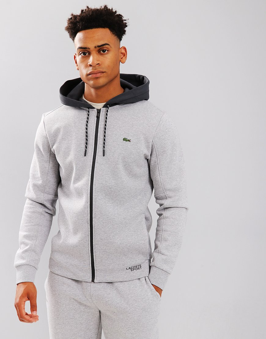 Lacoste Sport Colour Hood Sweat Silver Chine