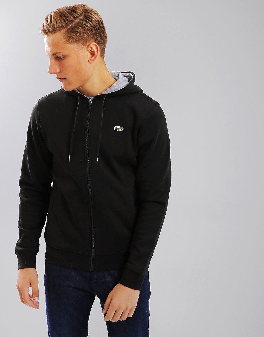 f1ecf68d50e3 Lacoste Sport Fleece Hoodie Black - Terraces Menswear
