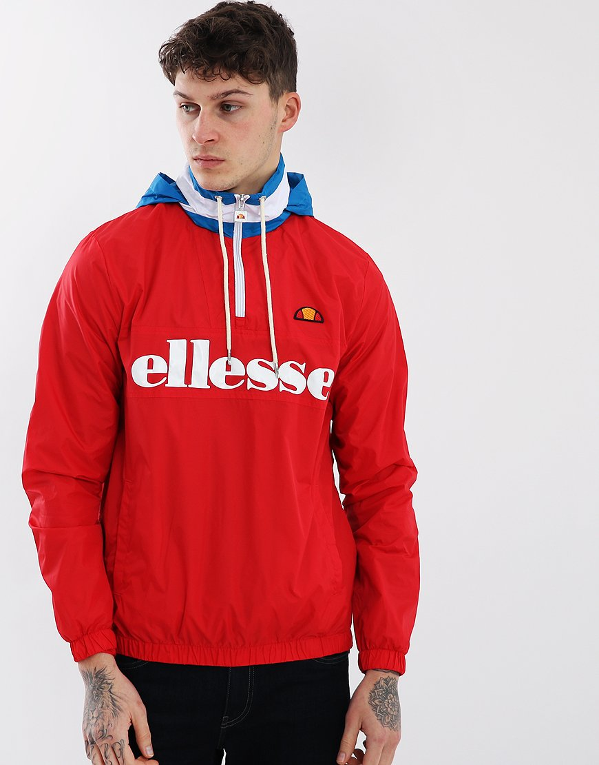 Ellesse Continental Hooded Jacket Red