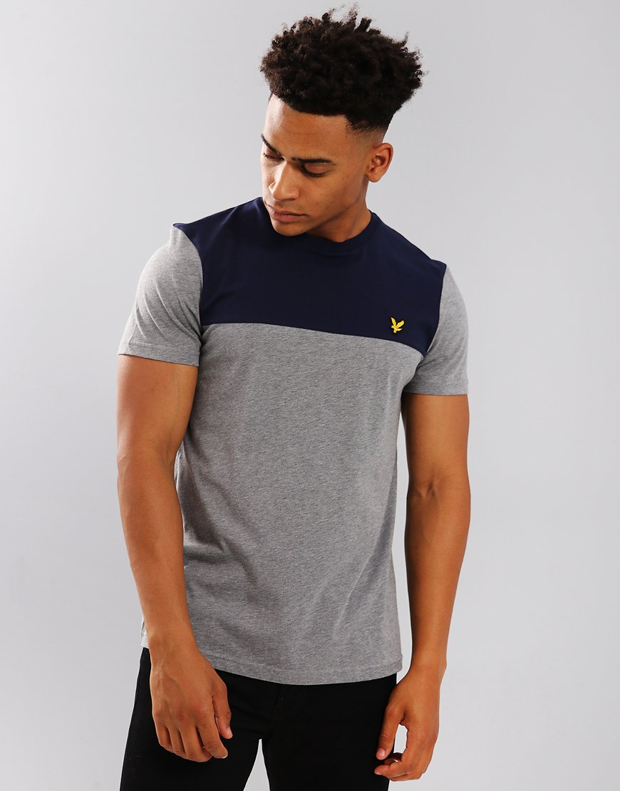 Lyle & Scott Yoke T-Shirt Mid Grey Marl
