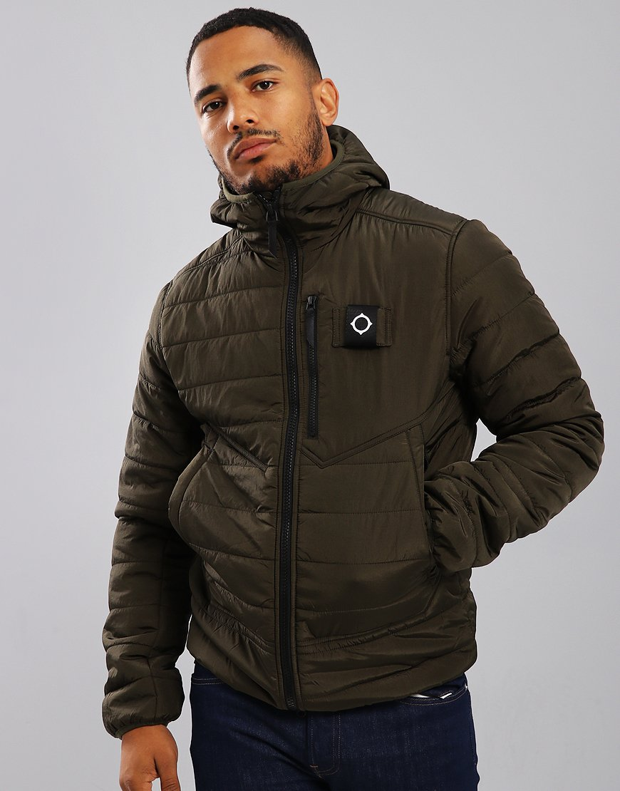 MA.Strum Pegasus Quilted Jacket Dark Khaki