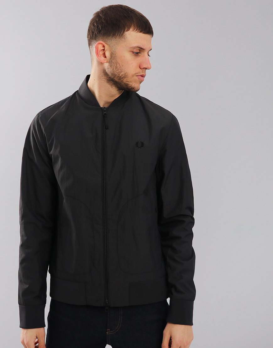 Fred Perry Tonal Sports Bomber Jacket Anchor Grey
