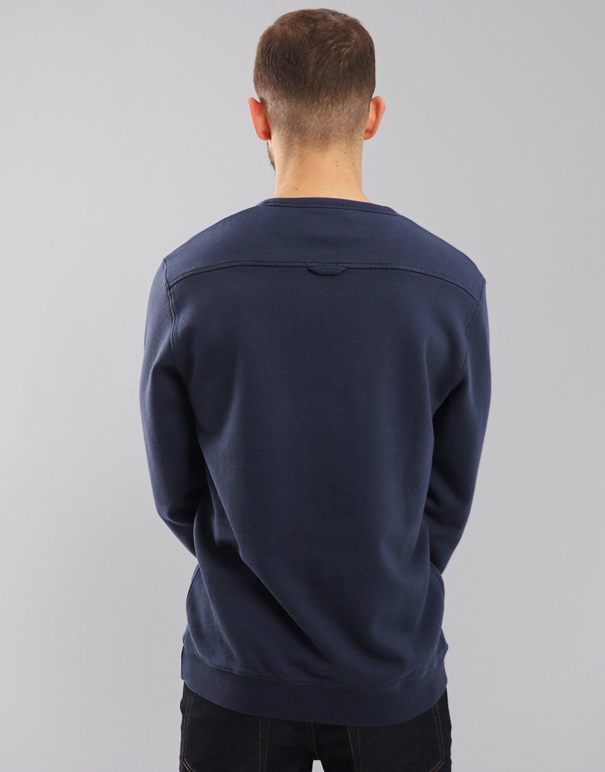 Farah Pickwell Garment Dyed Sweat Yale Blue
