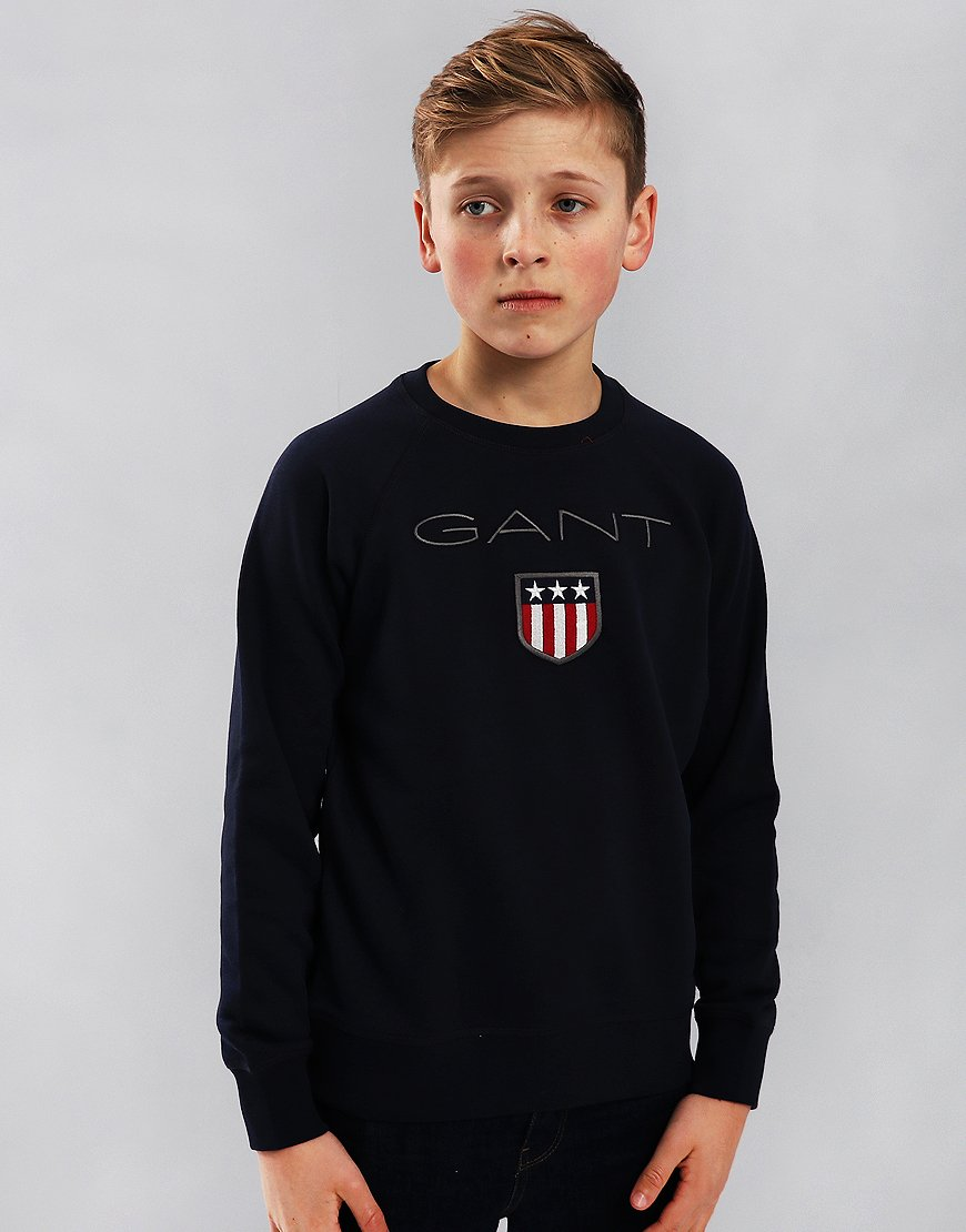 Gant Kids Shield Logo Sweat Evening Blue