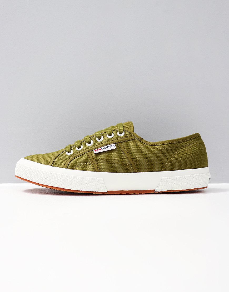 Superga Cotu Classic 2750 Canvas Trainers Military Green