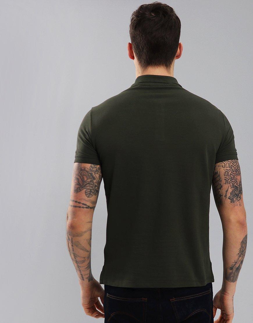 Emporio Armani Short Sleeve Polo Shirt Military Green
