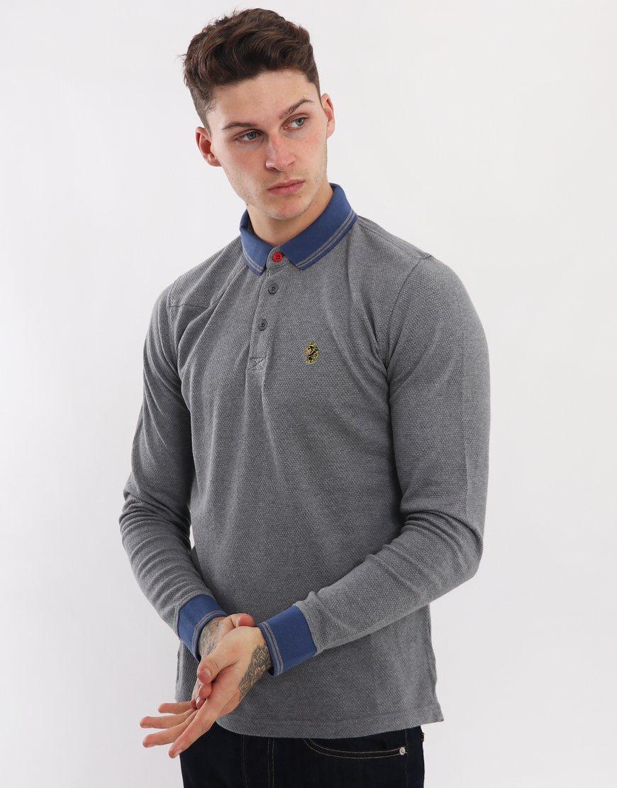 Luke 1977 Long B Boy Polo Shirt Grey