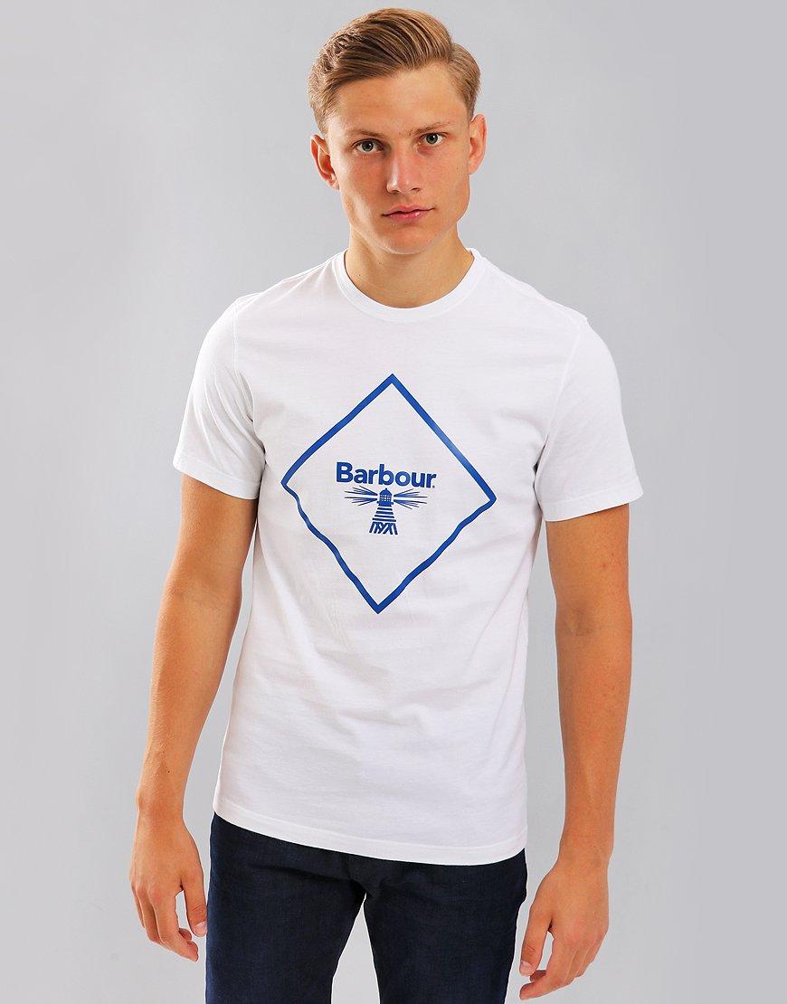 Barbour Beacon Large Logo T-Shirt White