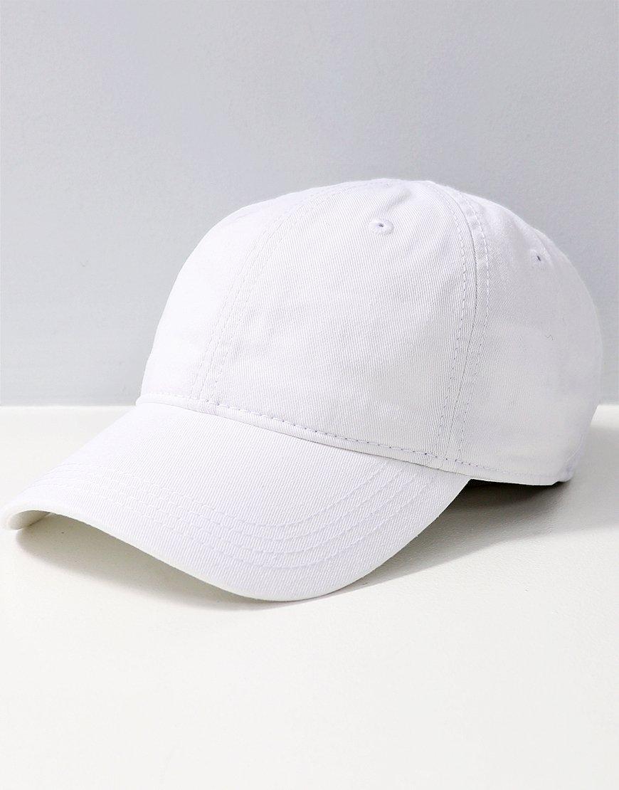Lacoste Plain Gabardine Cap  White
