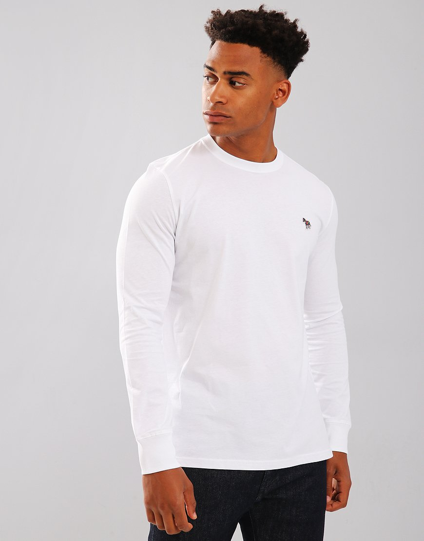 49a9a7c2975 Paul Smith Long Sleeved T-Shirts Regular Fit T-Shirt White - Terraces  Menswear