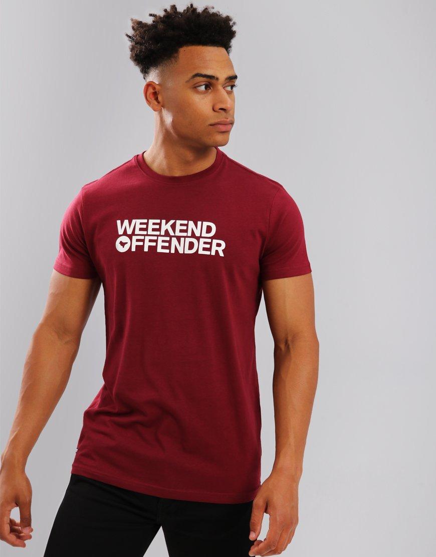 Weekend Offender Godin T-Shirt Garnet