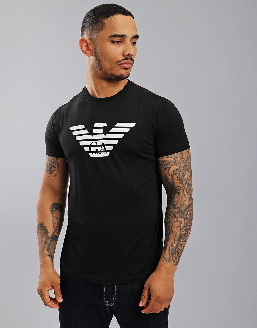 Emporio Armani Eagle Print T-Shirt Black