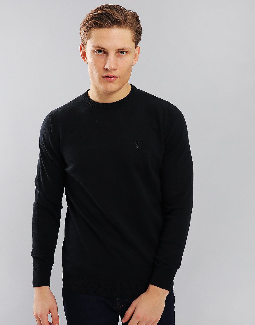 Barbour Pima Cotton Crew Neck Knit  Navy