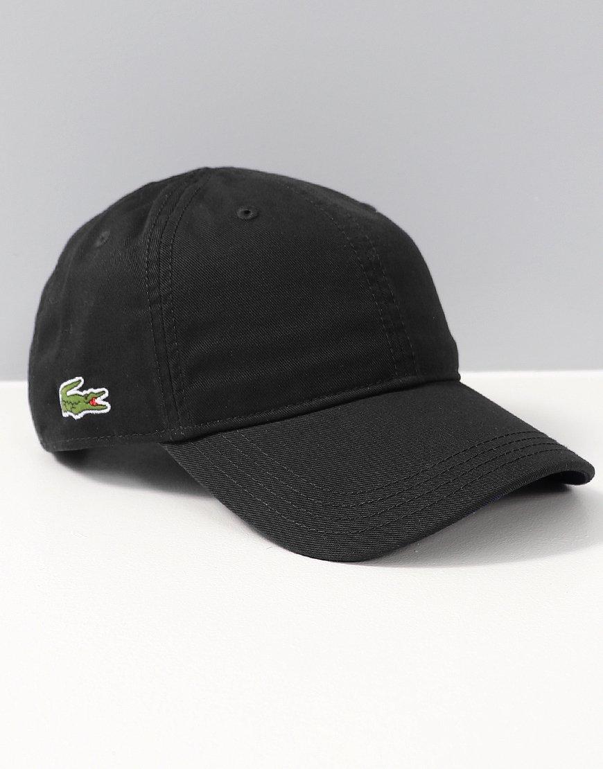 450367cc9 Lacoste Plain Gabardine Cap Black - Terraces Menswear