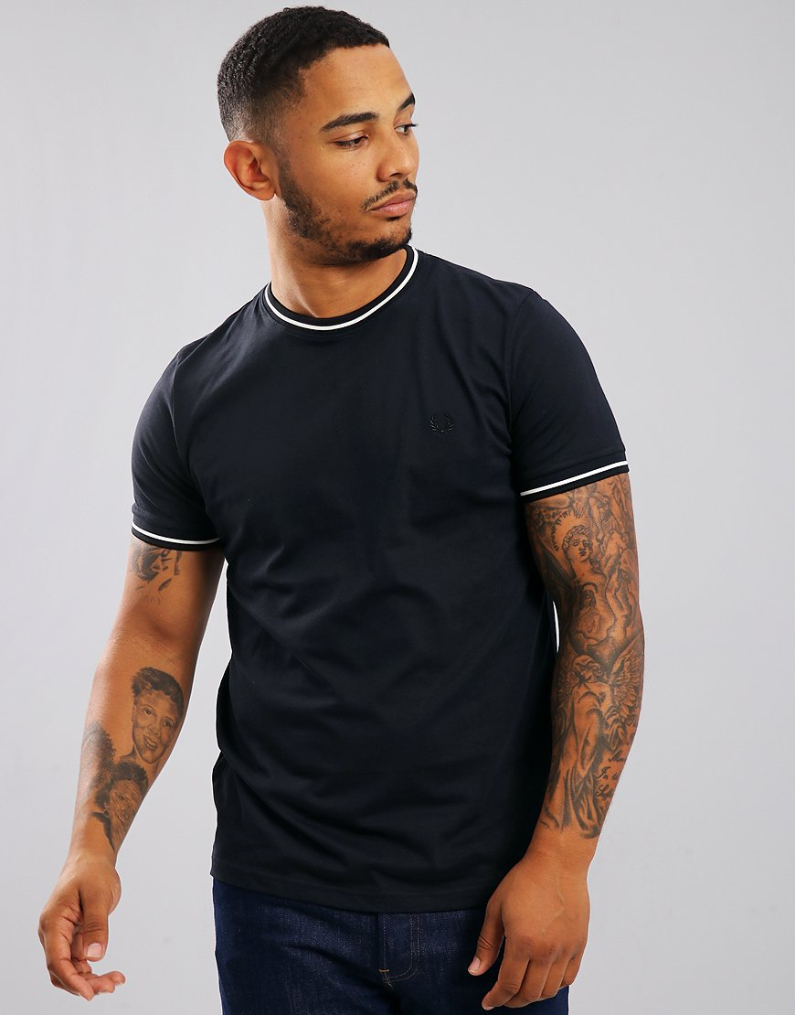 Fred Perry Tipped T-Shirt Navy