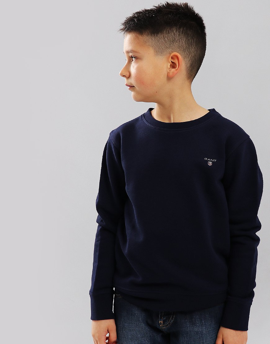 Gant Kids Crew Neck Sweat Evening Blue