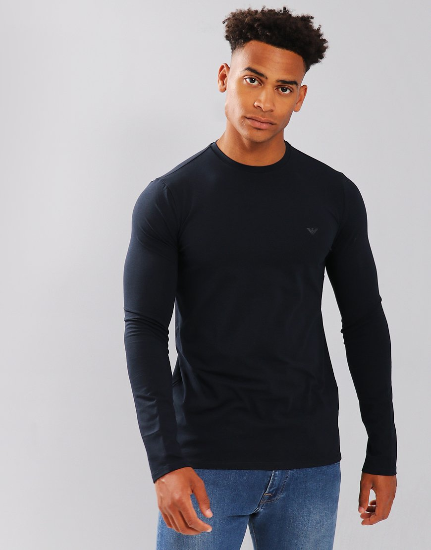 Emporio Armani Long Sleeve T-Shirt Dark Blue