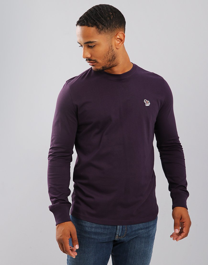 Paul Smith Long Sleeved T-Shirts Regular Fit T-Shirt Violet