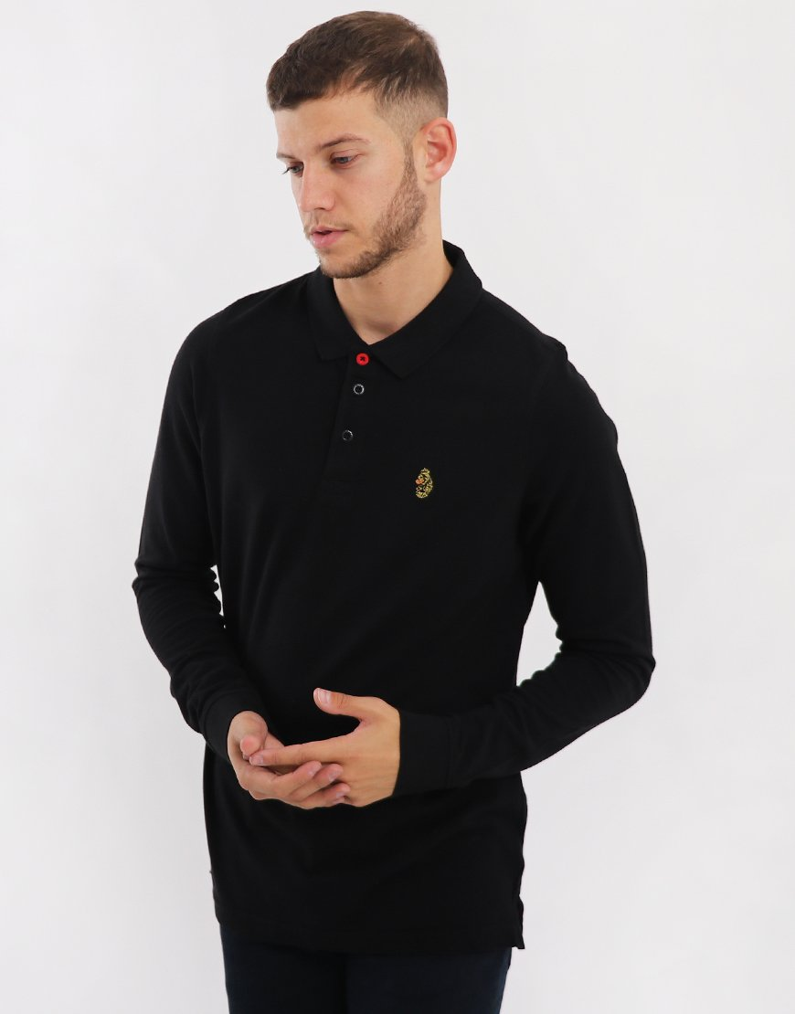 c1f9efce Luke 1977 Williams Long Sleeve Polo Shirt Black