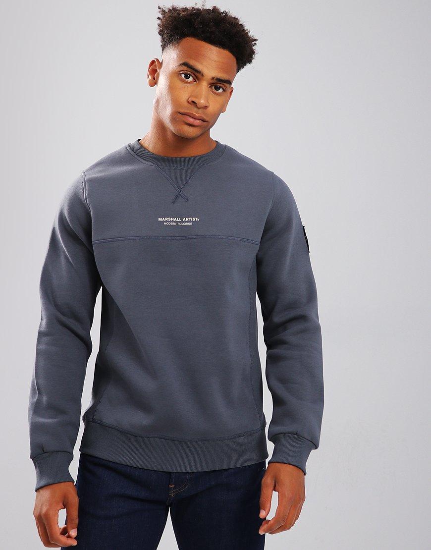 Marshall Artist Siren Garment Dyed Crew Neck Sweatshirt Navy
